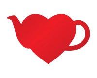 Teiera del cuore illustrazione di stock