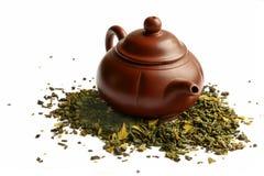 Teiera dell'argilla per il tè cinese Fotografia Stock Libera da Diritti