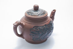 Teiera di ceramica Fotografie Stock