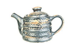 Teiera di ceramica d'argento Fotografia Stock Libera da Diritti