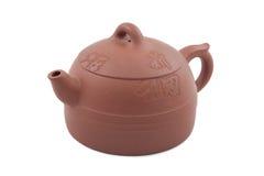 Teiera di ceramica del Brown Fotografia Stock