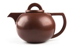 Teiera di ceramica del Brown Fotografie Stock Libere da Diritti