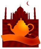 Teiera di rosso di Taj Mahal  Fotografia Stock