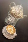 Teiera e caffè di vetro Immagine Stock Libera da Diritti