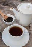 Teiera e tazza di tè Fotografia Stock
