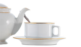 Teiera e teacup Immagine Stock