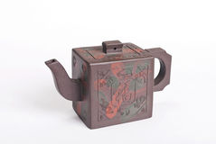 Teiera marrone cinese delle terraglie di colore fotografia stock libera da diritti