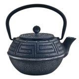 Teiera tradizionale del nero cinese del ferro fotografie stock