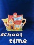 Teiera variopinta di festa della scuola Fotografia Stock Libera da Diritti
