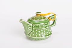 Teiera verde ceramica cinese immagini stock
