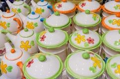 Teiere di ceramica fotografia stock