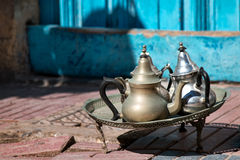 Teiere tradizionali arabe Fotografie Stock Libere da Diritti