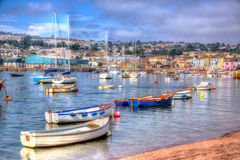 Teign river Teignmouth Devon in HDR Royalty Free Stock Photography