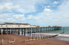 Teignmouth盛大码头 免版税库存照片