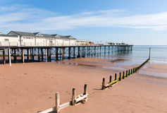 Teignmouth Devon blue sky and white clouds Stock Image