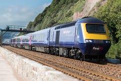 Teignmouth järnväg linje Arkivfoto