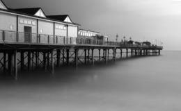 Teignmouth molo fotografia stock