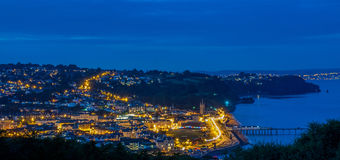 Teignmouth a penombra Fotografia Stock
