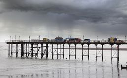 Teignmouth Pier in the rain, Devon, England Stock Image
