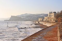 Teignmouth in winter Royalty Free Stock Photography