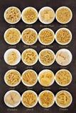 Teigwaren-Arten Stockfoto