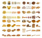 Teigwaren, Brot und Muttern Lizenzfreies Stockfoto