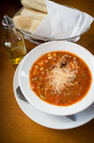 Teigwaren Fagioli-Suppe Stockfotografie