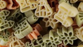 Teigwaren formen Bio stock footage