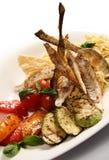 Teigwaren mit Fischen lizenzfreie stockfotos