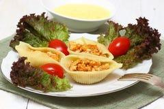 Teigwaren mit Fleisch lizenzfreies stockfoto