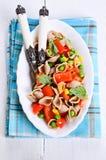 Teigwaren mit Gemüse Stockbild