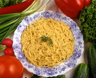 Teigwaren mit Tomaten? Lizenzfreie Stockfotos