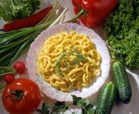 Teigwaren mit Tomaten? Lizenzfreie Stockbilder