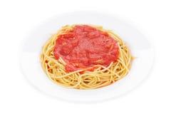 Teigwaren mit Tomatensauce Lizenzfreie Stockfotografie