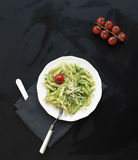 Teigwaren Pesto 2 Stockfoto