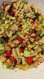 Teigwaren-Salat Stockfoto