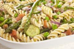 Teigwaren-Salat mit Spargel Lizenzfreies Stockfoto