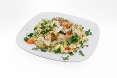 Teigwaren-Salat trennte Lizenzfreies Stockfoto