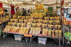 Teigwaren-Stall, Campo de ` Fiori Stockfotografie