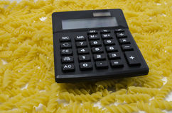 Teigwaren-Taschenrechner Lizenzfreie Stockfotografie
