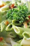 Teigwaren und Brokkoli Stockfoto