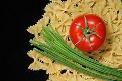 Teigwaren und Tomate Stockfotos