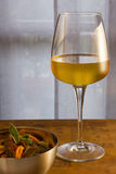 Teigwaren und Wein Stockbilder