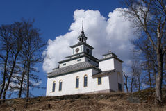 Teijo Church, Finland. The privately owned Teijo Church, built in 1830, is the smallest stone church in Finland. It is styled after Chinese Pagoda. Photographed Stock Photo