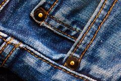 Teil alte Blue Jeans Stockbilder
