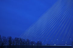 Teil Bau neuer größter Brücke Belgrads Lizenzfreie Stockbilder