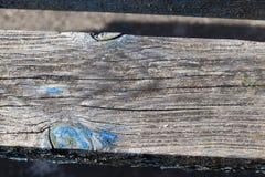 Teil der alten Holzbanken Lizenzfreie Stockfotos