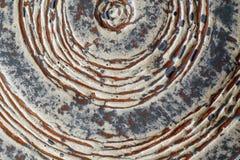 Teil der alten keramischen Plattennahaufnahme lizenzfreies stockbild