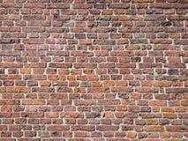 Teil der alten mittelalterlichen Ziegelsteinmaurerarbeit der Wand Lizenzfreies Stockfoto