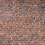 Teil der alten mittelalterlichen Ziegelsteinmaurerarbeit der Wand Lizenzfreie Stockfotos